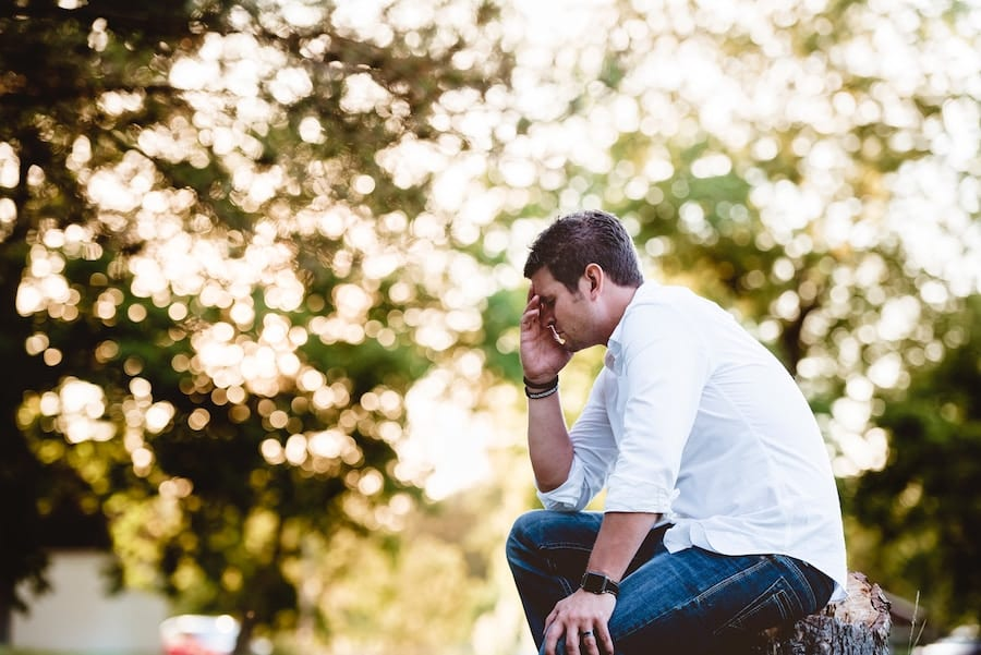 stress management tips - man appearing to be under stress